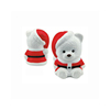 Promotional PU Foam Santa Bear Shape Stress Ball
