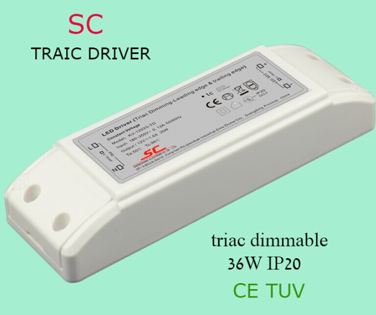 Triac Dimmable 36w 33-55v 700ma Constant Current Led Driver ...