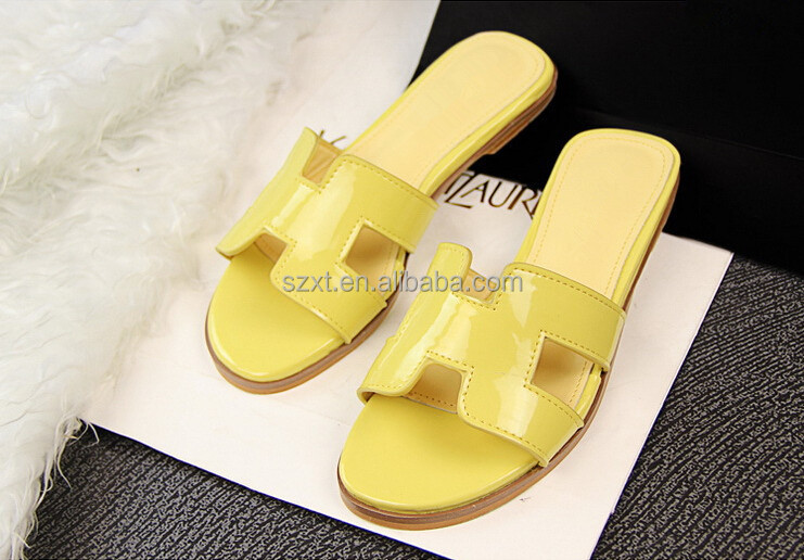 Real Patent Pu Girls Flat Sandal Small Womens 2015 New Stylish ...