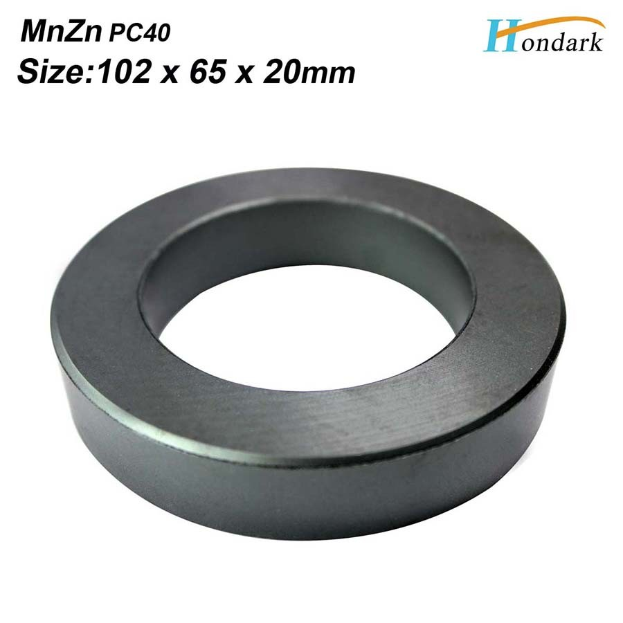 ultra large power toroidal transformer ferrite core 102X65X20mm/4''X2.6''X0.8'' MnZn PC40