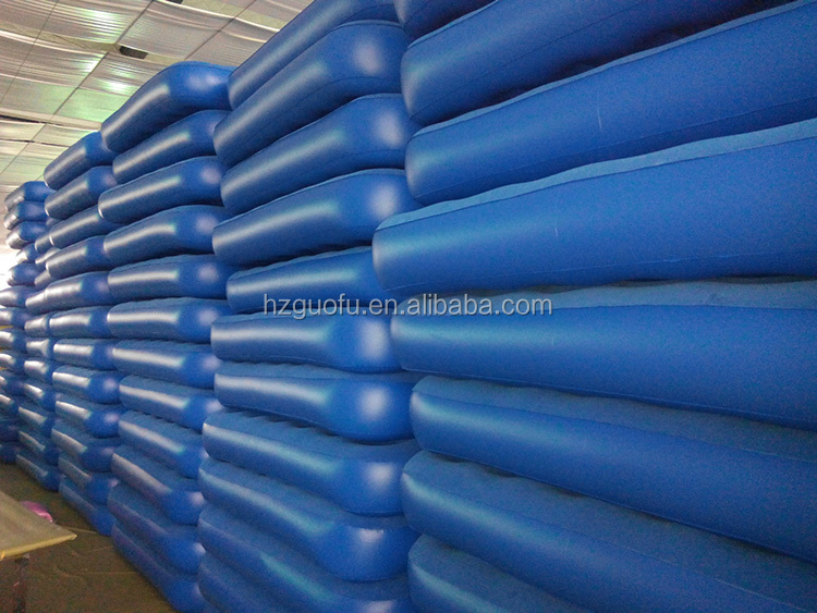 Cheap Inflatable Single Flocking Air Bed with Factory Price