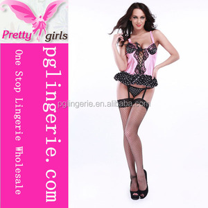 2017 Wholesale Fashion Sexy Transparent Negligee Babydoll