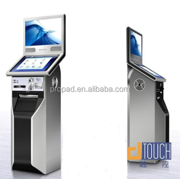 19 Quot Floor Stand Multi Touch Dual Screen Kiosk For Bank