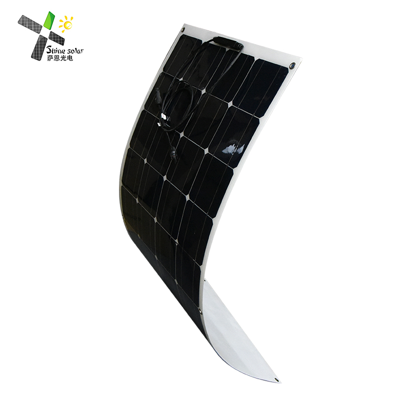 Wholesale China Factory Monocrystalline <strong>Sun</strong> Power 100w Mono flexible semi solar panel
