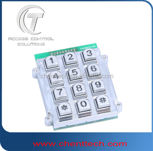 panel mount metal keypad with 12 numeric backlight/illuminated keypad