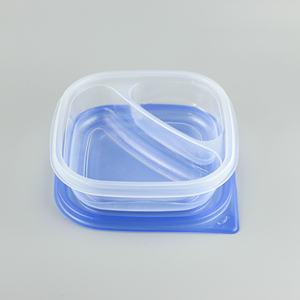 Popular PP disposable plastic container bento box lunch 2 compartment food container
