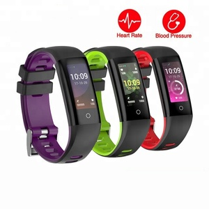 Smart Bracelet Blood Pressure Heart Rate Monitor Pedometer 0.96 OLED Color Screen Fitness Tracker