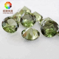 #149 Tourmaline Synthetic spinel Round loose gemstone Green spinel