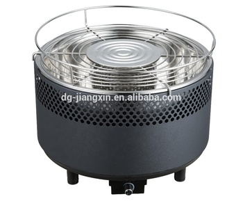 New Design Round Tabletop Charcoal Grill With Fan