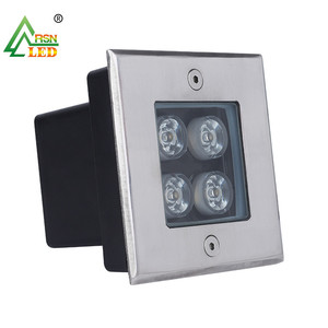 Outdoor waterproof IP67 square 4w inground led lights