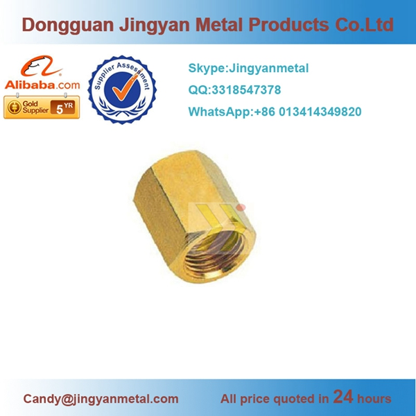 brass male thread hexagon end caps , pipe fitting