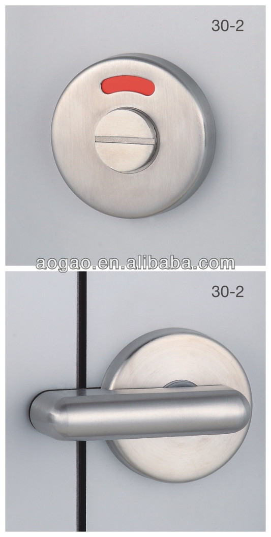 30-2 stainless steel thumb turn bathroom door indicator lock
