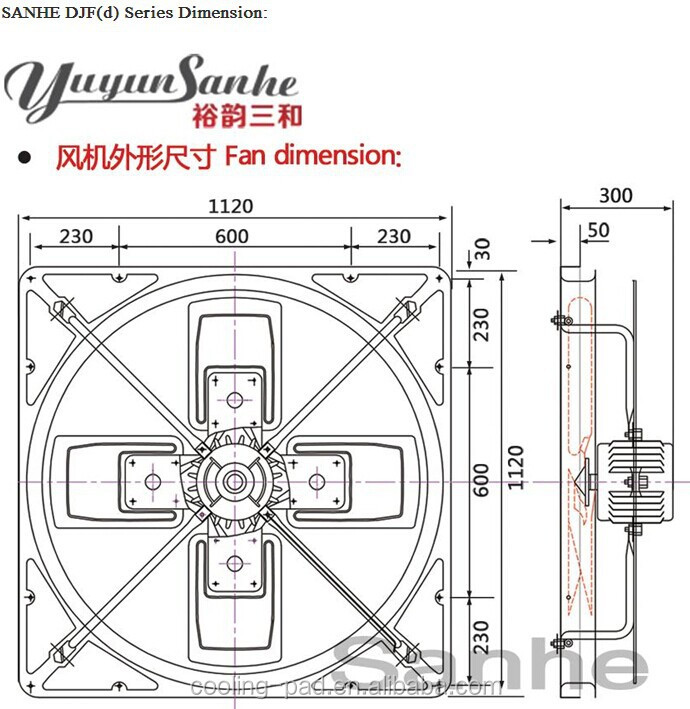 Circular Net Hanging Cow House Exhaust Fan Ventilation Ceiling