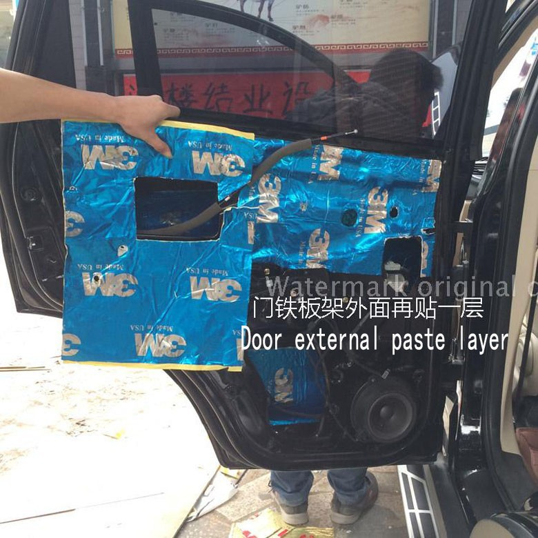Wholesale-Car sound insulation Drop soundboard Deadening Door car trunk  Acoustic panels Noise pad Only board Shockproof board