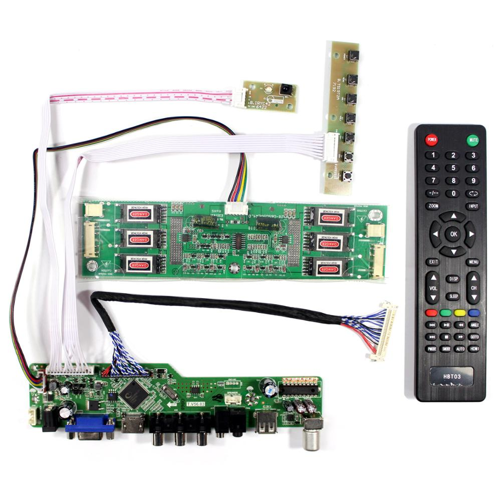 TV Controller Board Kit für 20,1 ~ 21,3 zoll 1600x1200 30Pin 6 lampe CCFL lcd Panel