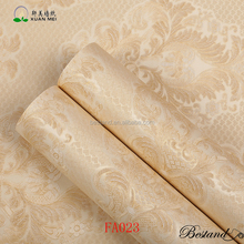Cheap Golden Damascus wallpaper PVC Self-adhesive Wallpaper supplier in China