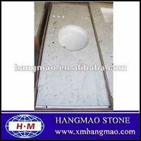 Cheap White Marble Vanity Top Bathroom Vanity Top for Sale