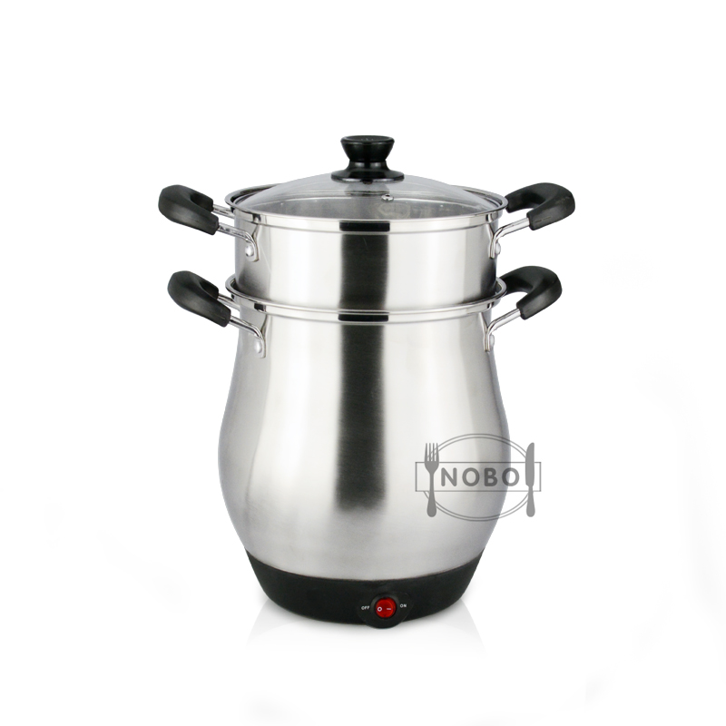 NOBO brand multi steamer cooker stainless steel electric rice cooker