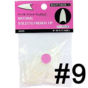 B. N. Natural Stiletto French chip # 9 PNSF-9 50P ? by size