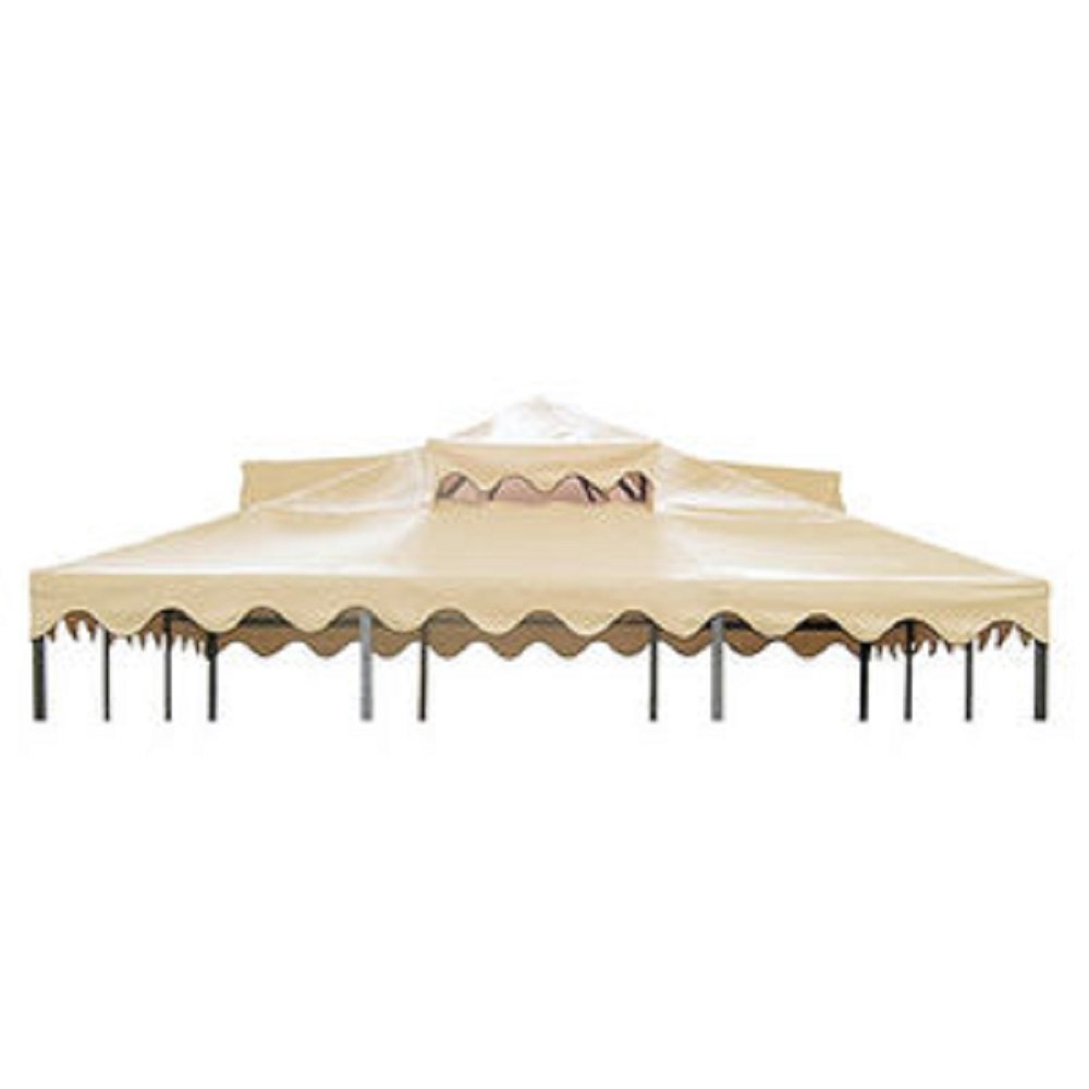 UV sunlight resistant polyester fabric, Ventilation breeze vents. OUTDOOR LIVING VERANDA GAZEBO CANOPY TOP - TAUPE