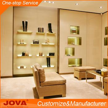 Guangdong Custom Modern Models Shoe Rack Wood Wall Mount Display Shelf Wooden Cabinet Design