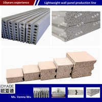 lightweight concrete wall panel forming machine/China modern house design magnesium oxide sandwich panel production line