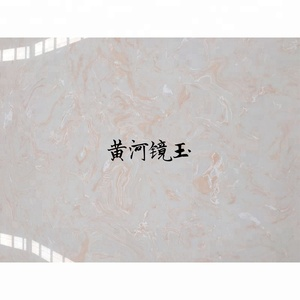 Best price white opal pink veins artificial faux marble stone wall panels