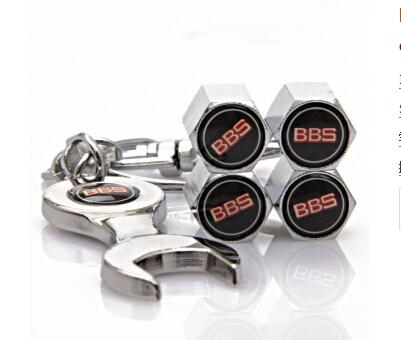 Бесплатная доставка / прямая поставка автомобиля колесо шина колпачки с мини гайковерт и брелок черный и белый BBScar ( 4-Piece / упаковка )