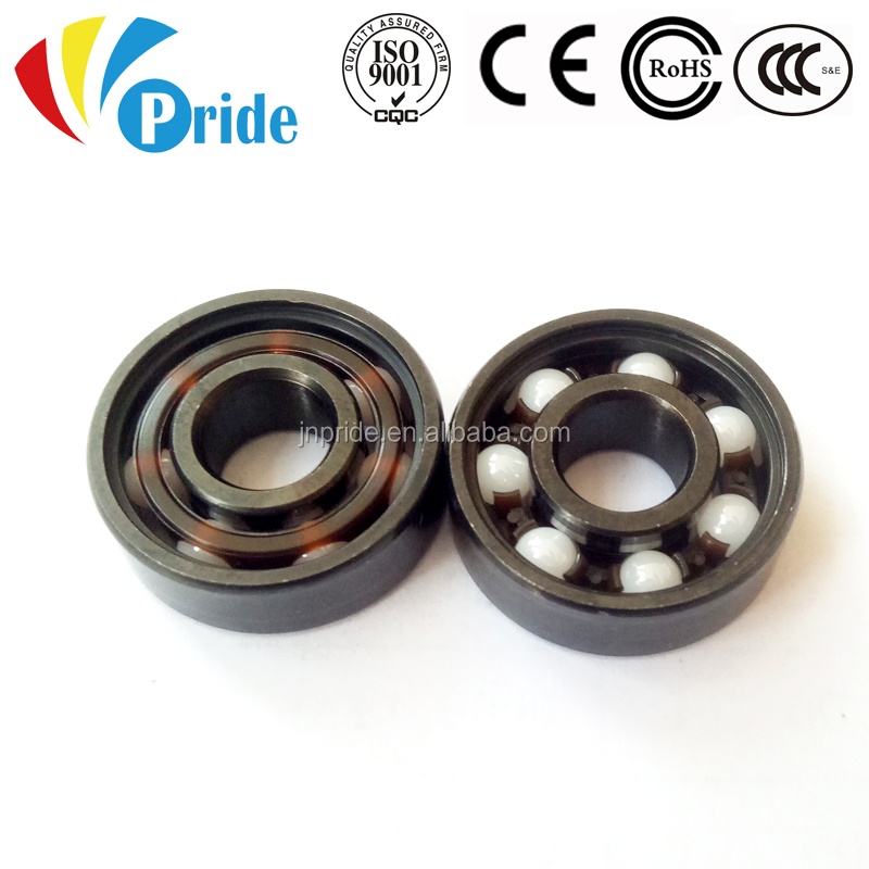 Micro Size Black Coated Hybrid and Full Ceramic Miniature Deep Groove Ball <strong>Bearing</strong> 608 RS 2RS for Skate Board Wheels