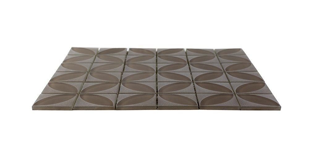 Home decor art glass tiles carved flower-glass tile for wall, kitchen, bathroom (1 sq ft (1 Box))