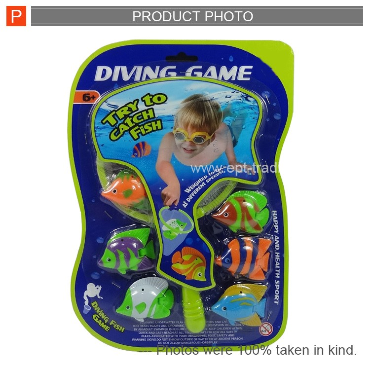 Children kids plastic toy water game diving set toy