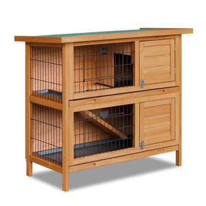 SDR020 Custom 2 Story Flat Wholesale Wooden Rabbit Hutch