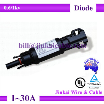 how to connect diode to solar panel