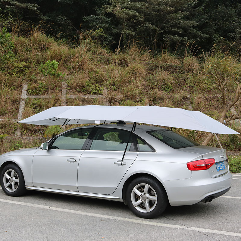 Melody Carport Automatic Car Tent <strong>Sun</strong> Shade Canopy Folded Portable Car Umbrella with Remote Control