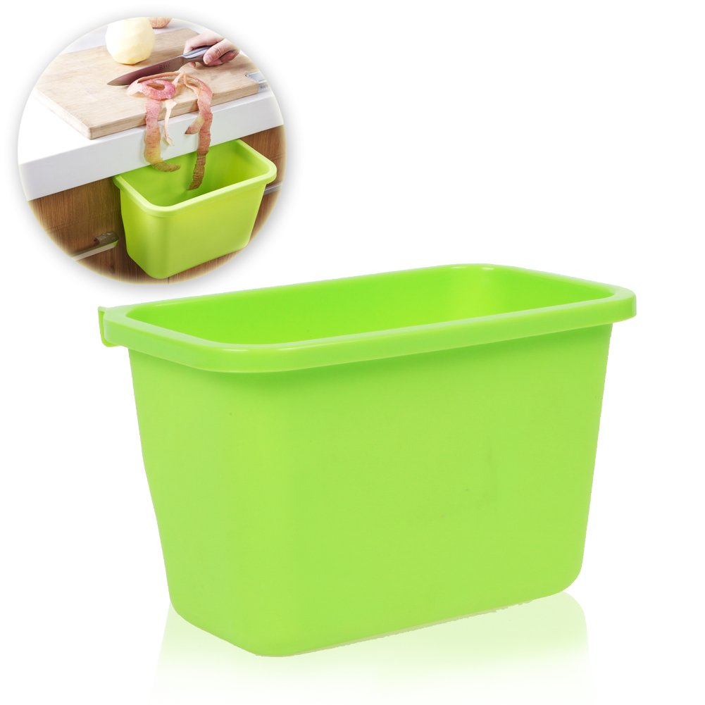 Go Compost Bin Green, Scrap Collector and Freezable Compost Bin, Compact with 1/2 Gallon Capacity