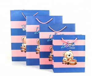 Color Bear Pattern Printing Infant Clothing Toy Packaging Paper Gift Bags