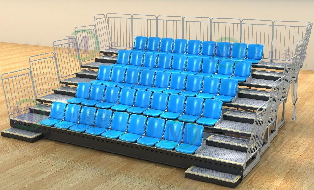Metal Stadium Seats : Mctb f athens retractable bleacher metal telescopic