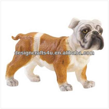 Polyresin Figurine English Bulldog Statue In Craft
