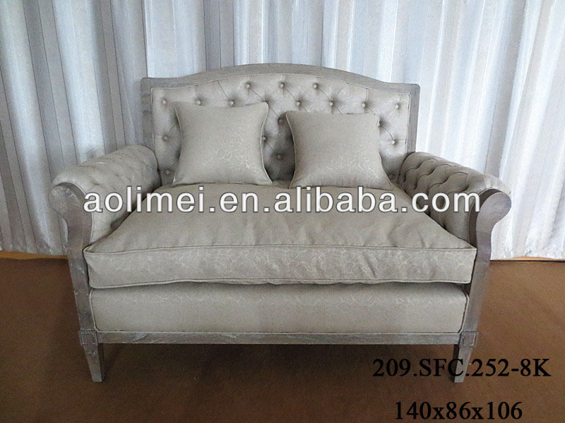 2013 new solid wood classical fabric sofa