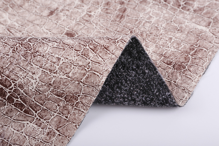 China manufacturer microfiber suede crack design cork imitation leather fabric for sofa