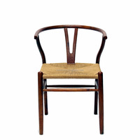 Top Quality American Style Garden Wooden Side Wishbone Chair