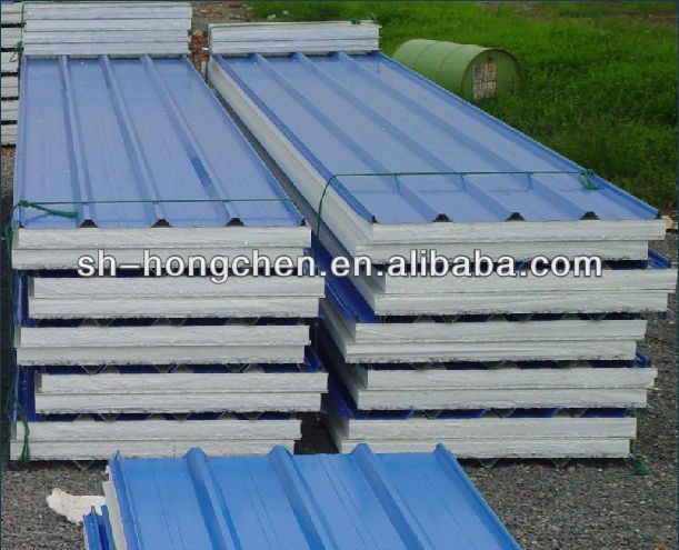 Stainless steel pu sandwich panel for cold room pu panels