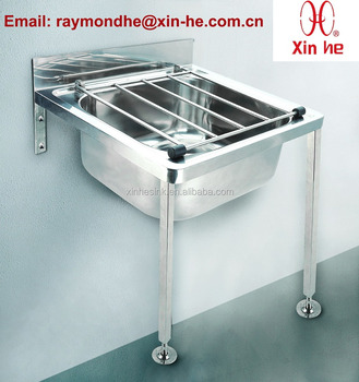 EU Wall Hung Floor Mounted Stainless Steel Bucket Sink Cleaners Sink Mop  Sink For Public Sanitation
