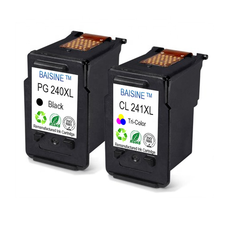 Hot Sale Baisine PG240 CL241 Ink Cartridges Compatible For Canon PIXMA MG3122 MG3520 MG4220 Inkjet Cartridge 240xl 241xl