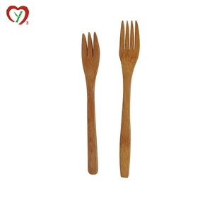 dinnerware small bamboo two prong fork