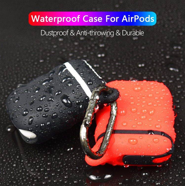 Amazon Top Seller 2019 New Waterproof Shockproof Silicone Mobile Charging Phone Earphone Case Cover For Airpod Wholesale