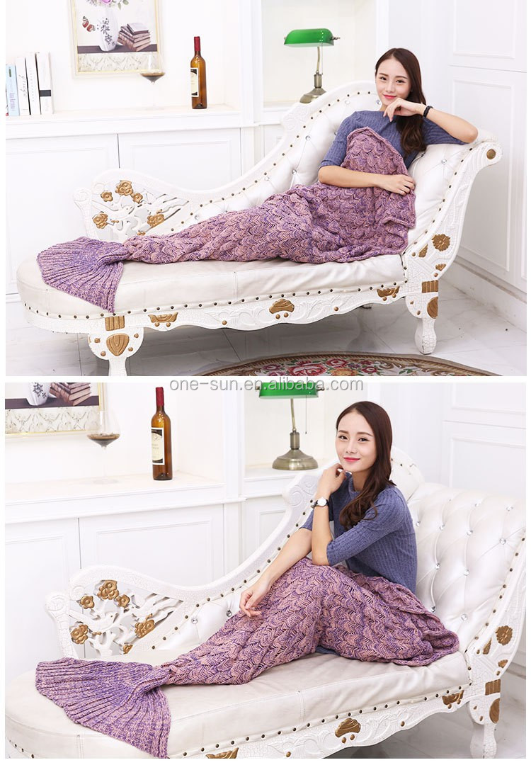wholesale fashion warm light fish blanket adult mermaid tail blanket for watching tv wearable. Black Bedroom Furniture Sets. Home Design Ideas