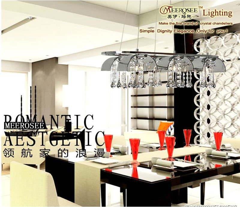 Moderna lámpara de cristal light pendant para centro de mesa ...