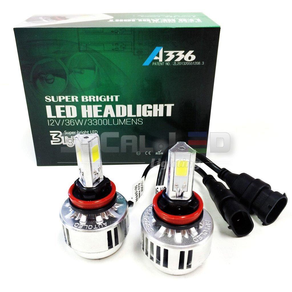 Get Quotations · SOCAL-LED H11 (H9 H8) 72W 3Light Automotive LED Bulbs  Headlight Conversion Kit