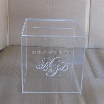 Custom Acrylic Wedding Invitation Card Box